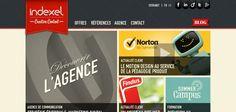 Web design inspiration : indexel.com