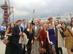 The cast attend the Olympics in London, 2012.