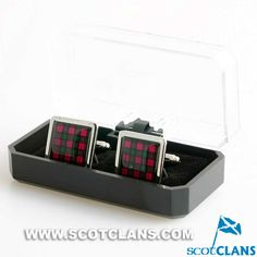 Clan Rattray Tartan Cufflinks in Economy Box