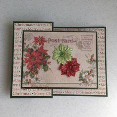 postal de natal Explosion Box, Graphic 45, Envelopes, Stencil, Decoupage, Scrap, Merry, Christmas, Cards