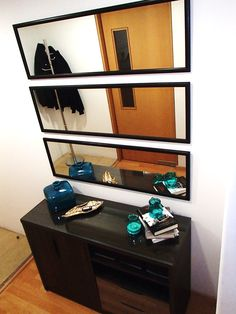 Horizontally Stacked Mirrors! Easy and Cheap Idea to Decorate!