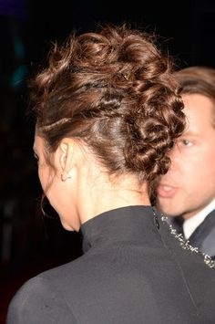 Back of Nina Dobrev's People's Choice Awards hairstyle
