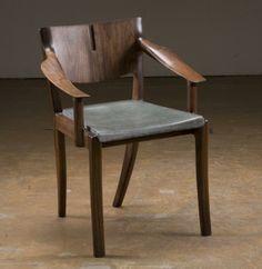 trestle end Chair - Concrete Revolution Studio