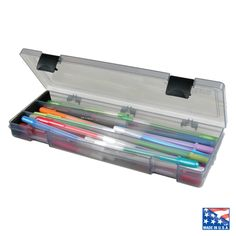 About the Utensil Box    Perfect for organizing pencils, pens, brushes and cutting tools. Foam pads protect pencil points and sharp blade tips. ACID FREE Polypropylene