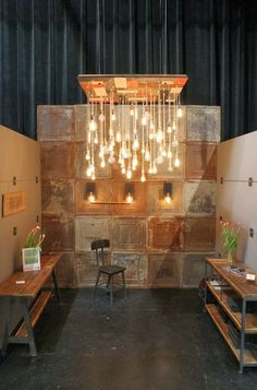 If there's a grid, hang things from it?? Or cover cubicle with plywood &…