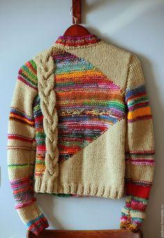 Valentine's Day Yarn Wreath – Free Pattern – Interests Knitting Stitches, Knitting Designs, Free Knitting, Freeform Crochet, Knit Crochet, Tricot D'art, Fair Isle Knitting, Crochet Clothes, Pulls