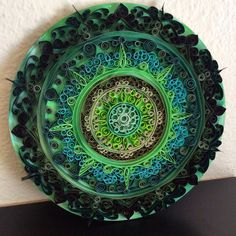 Green Quilled Mandala Wall Art by aHawaiianSeattleite on Etsy