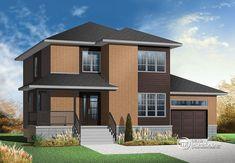 Plan de Maison unifamiliale W3875