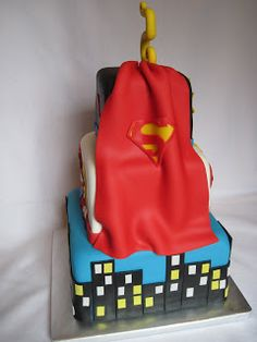 Heather's Cakes and Confections: November 2011 Superman Cakes, Superman Party, Dad Birthday, First Birthday Parties, Birthday Stuff, Extreme Cakes, Mothers Of Boys, Mickey Mouse Hat, Superhero Cake