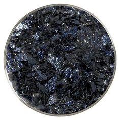 Aventurine Blue Transparent Coarse Frit - 96COE - 4oz - Made by Uroboros Glass