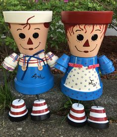 A personal favorite from my Etsy shop https://www.etsy.com/listing/201363857/free-ship-raggedy-anne-planter-pot Raggedy Anne & Andy