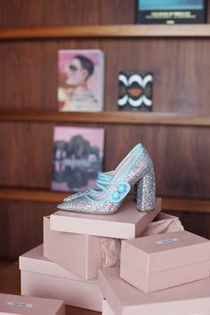 MiuMiu - Glitter Mary Janes (seen on 5 inch and up)