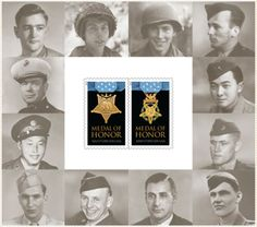 Veterans day 2013: US Postal Service issues stamp honoring WWII medal of honor receipents.