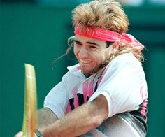 Andre Agassi was criticized for wearing colorful costume to attend the French Open Tennis Championships 1990