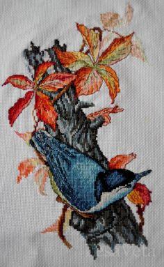 Вышитая работа пользователя LesaVeta (#2) Cross Stitch Bird, Cross Stitch Needles, Cross Stitch Samplers, Cross Stitch Animals, Cross Stitch Flowers, Cross Stitching, Cross Stitch Embroidery, Hand Embroidery, Machine Embroidery