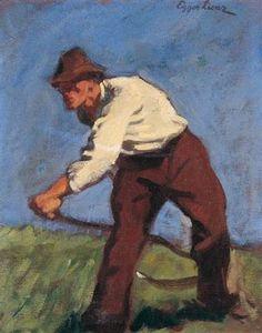 Albin Egger-Lienz – Bergmäher (Mountain mower), 1907