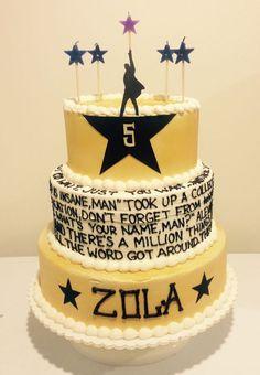 Hamilton The Musical Cake