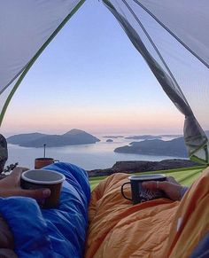 Breakfast in bed #fromthetent #coffeewithaview : @davidvassiliev #grandcamping…