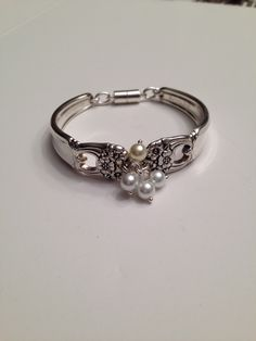 Eternally Yours pattern spoon bracelet