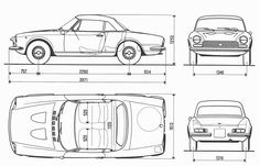 Fiat 124 Sport Spider blueprint