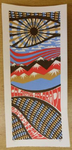 Original silkscreen concert poster for Phish on August 31st and September 1st and 2nd at Dick's Sporting Goods Park in Commerce City, CO in 2012. It is printed on Watercolor Paper with Acrylic Inks and measures around 10 x 22 inches.  Print is signed and numbered out of only 150 by the artist Tripp.