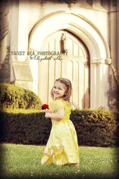 Beauty and the Beast Photo Shoot. 3 year old girl photo ideas. Disney Princess Belle. Sweet Pea Photography. Norwalk, Oh