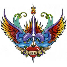 Buy 'Eternal Love Swallow Tattoo' by Myka Jelina as a Sticker, Transparent Sticker, or Glossy Sticker Swallow Tattoo, Eternal Love, Big Flowers, Tattoo Shop, The Conjuring, Tattoo Inspiration, Incense, Peace And Love, Painted Rocks