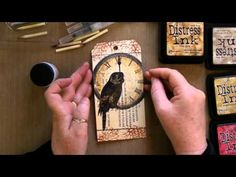 La Blanche Stamps & Colouring With Tim Holtz Distress Inks Tutorial - YouTube