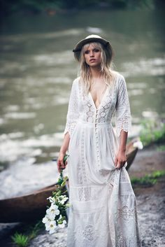 Anja Konstantinova wears Spell Designs The Aurora Gown