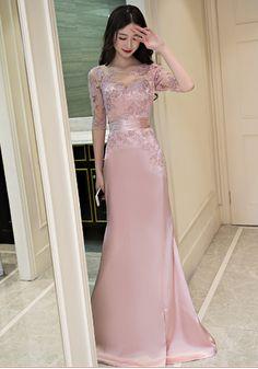 Mermaid Lace Prom Dress,Long Prom Dresses,Prom Dresses,Evening Dress,
