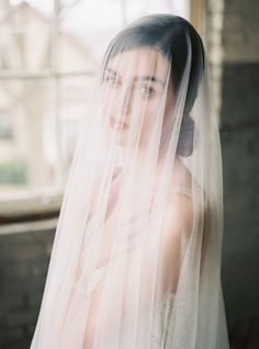 OPHELIA silk drop veil | circle drop veil | royal wedding veil | veil with blusher hairstyles