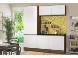Cozinha Compacta Multimóveis Línea - com Balcão 6 Portas