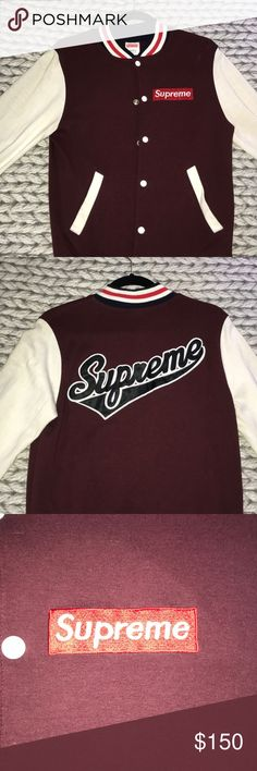 c150b48a09b Supreme Varsity Jacket Great condition