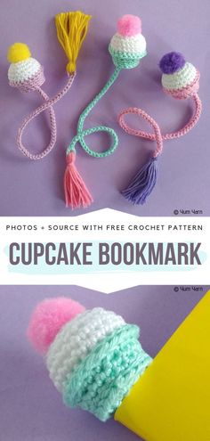 Funny Crochet Bookmarks Free Patterns Funny Crochet Bookmarks Free Patterns,Stricken und Häkeln Cupcake Bookmark Free Crochet Pattern Related Ideas Embroidery Christmas Santa - Crochet DIY Wood Projects - Home Decor Ideas -. Crochet Simple, Cute Crochet, Crochet For Kids, Funny Crochet, Crochet Cupcake, Quick Crochet Gifts, Crochet Things, Double Crochet, Crochet Amigurumi