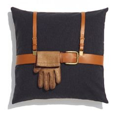 Pillow for very gentlemen with gloves