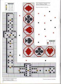 Gráfico para mesa de baralho   Gráficos de Ponto Cruz
