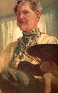 c. 1907 Alphonse Mucha, self-portrait.. another of my very great illustrator inspirations!