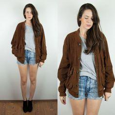 Image result for oversized brown leather jacket