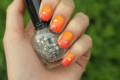 China Glaze - Papaya Punch, China Glaze - High Hopes, Kleancolor - Silver Star