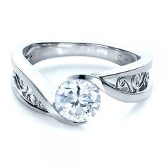 Similiar to mine. I love this... Custom Filigree and Diamond Engagement Ring