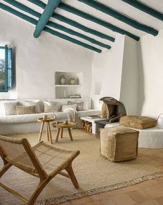 〚 Summer inspiration: sunny Mediterranean villa by Kave Home 〛 ◾ Photos ◾ Ideas ◾ Design #greek #villa #beams #interiordesign #Homedecor #decor #Ideas #inspiration #cozy #living #tips #style #space Home And Living, Living Room, Cozy Living, Relax, Home Photo, Interior Design Services, Wood Furniture, Interior Inspiration, Armchair