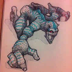Sketchbook Illustrations by Norio Fujikawa via YouTheDesigner.com