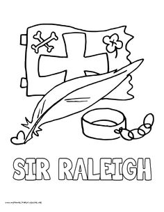 world history coloring pages printables sir walter raleigh