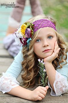 Plum Flower Headband by CozetteCouture on Etsy, $29.50