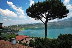Lake Albano outside of Rome