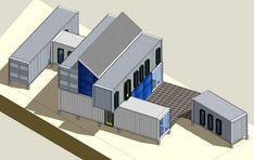Flagstaff, AZ Green House Shipping Container Home Plan