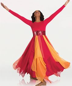 Body Wrappers: Long Sleeve Fire Dress