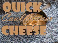 Quick Cauliflower Cheese - nourishing comfort food