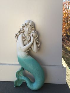 This item is unavailable Mermaid Wall Decor, Beach Wall Decor, Mermaid Beach, Mermaid Diy, Collectible Figurines, Garden Sculpture, Sculptures, Arts And Crafts, Girls
