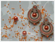 ROUND DORRIS - handmade soutache earrings. $25.00, via Etsy.